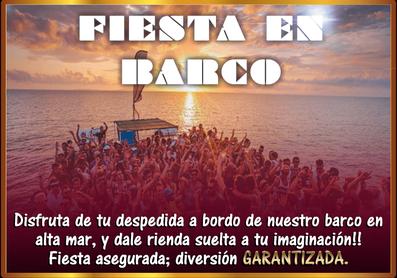 Fiesta en el barco | Despedida de soltera y soltero en El Puerto y Conil