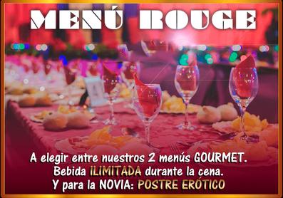 Menu Rouge tu menu de despedidas de solteras y solteros en El Puerto y Conil